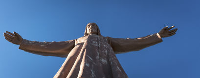 Open arms of Christ Royalty Free Stock Photo