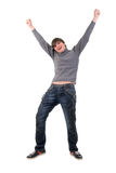 Open Arms Dancing Boy. Royalty Free Stock Images