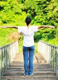 Open arms to nature Stock Image