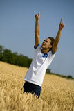 Open arms02. Happy guy with open arms royalty free stock photos