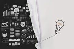 Open arrugó la show business de papel Imagenes de archivo
