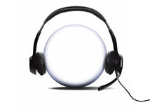Open audio headset Royalty Free Stock Photos