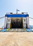 Open autoveerboothelling stock foto