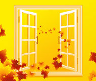 Open_autumnal_window Stock Image