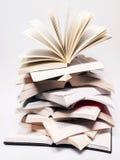 Open Bücher erhöhend Lizenzfreie Stockfotografie