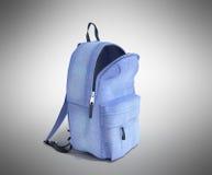 Open Backpack bag school 3d render on grey gradient Stock Image