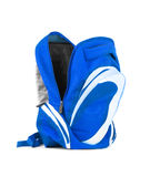 Open backpack isolated on a white background Stock Images