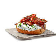 Open Bacon Sandwich Royalty Free Stock Photo