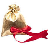 Open bag of gifts Royalty Free Stock Photography