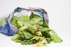 Open Bag of Salad. Open bag of mixed grocery store salad Stock Images