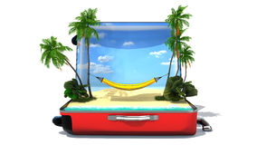 Open baggage, vacation concept Royalty Free Stock Image