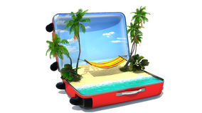 Open baggage, vacation concept Royalty Free Stock Photography