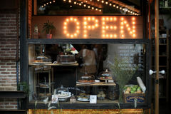 Open bakery shop Royalty Free Stock Image