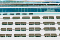 Open Balconies on a Cruise Ship Stock Photos