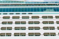 Open Balconies on a Cruise Ship Stock Photos