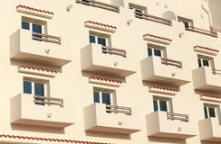 Open Balconies, Modern Apartment Building. Stock Photos