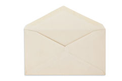 Open balnk white envelope isolated Royalty Free Stock Images