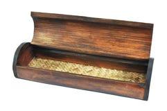 Open bamboo box Royalty Free Stock Photos