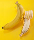 Open banana Stock Image