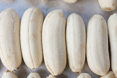 Open banana fruit Stock Photo