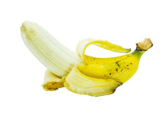 Open banana fruit Stock Photography