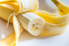 An open banana stock images