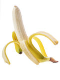 Open bananna Stock Photography
