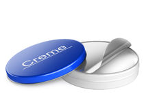 Open bank cream for skin Royalty Free Stock Photography