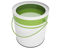 Open bank with green paint Royalty Free Stock Photos