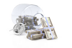 Open  bank with money Royalty Free Stock Image