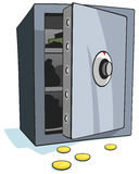 Open bank safe stock illustration