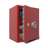 Open bank safe with gold Stock Images