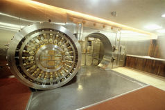 Open bank vault Stock Images