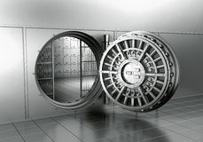Open Bank Vault Royalty Free Stock Photography