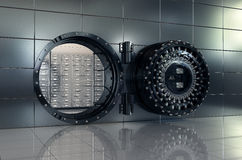 Open bank vault Royalty Free Stock Images