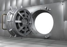Open Bank Vault Door. 3D render Royalty Free Stock Photos