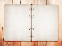 Open bank white notebook Royalty Free Stock Image