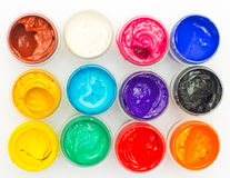 Open banks of a paint Royalty Free Stock Photo