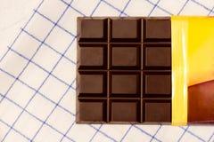 Open bar of chocolate Stock Photos