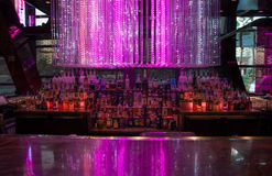 Open Bar lit up Royalty Free Stock Image