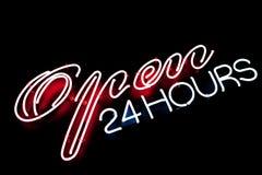 Open bar restaurant neon sign Stock Photography
