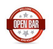Open bar seal illustration design Royalty Free Stock Photo
