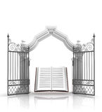 Open Baroque Gate With Holy Bible Stock Image