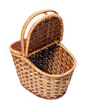 Open basket for picnic isolated Royalty Free Stock Photography