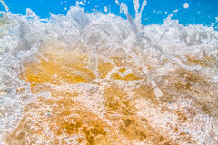 Open beach with waves breaking Stock Photography