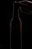 Open beer bottle royalty free stock images