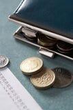 Open beurs met tot ontvangstbewijs stock foto