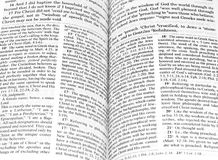 Open bible Stock Photos