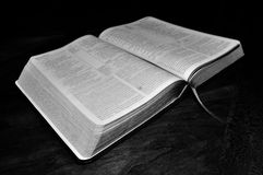Open Bible. The Word of God study bible Stock Photo