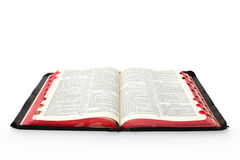 Open Bible. Casting soft shadow on white background Stock Image